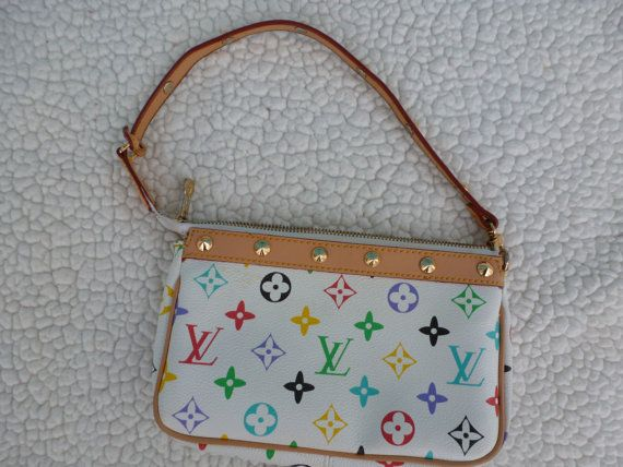 Louis Vuitton Multicolored Pochette  by VintageSweetieMama on Etsy ... 6698e2a0bf18f