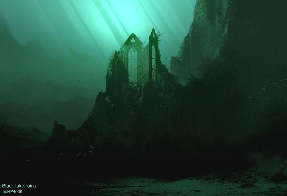 Harry Potter Concept Art Black Lake Ruins Harry Potter Artwork Concept Art Harry Potter Background