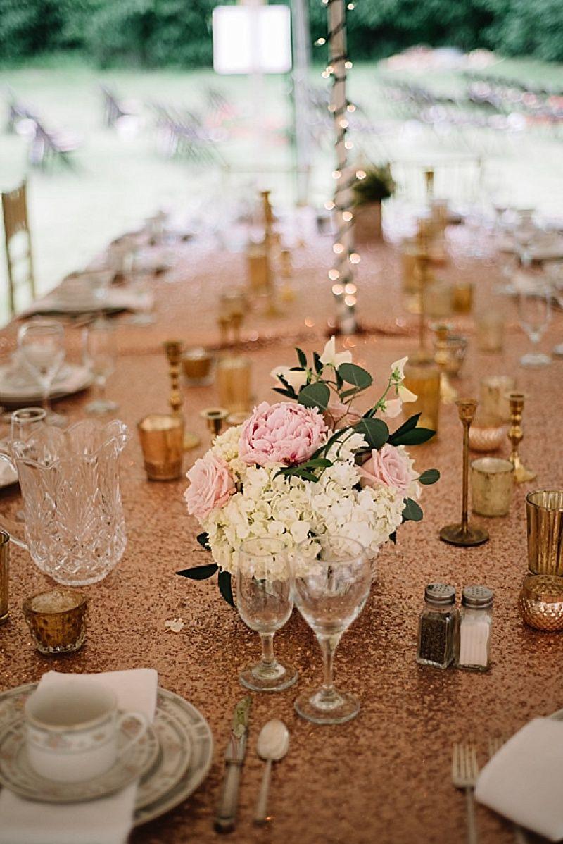 Gray And Blush Wedding At Home Blush Weddings Wedding And Shower