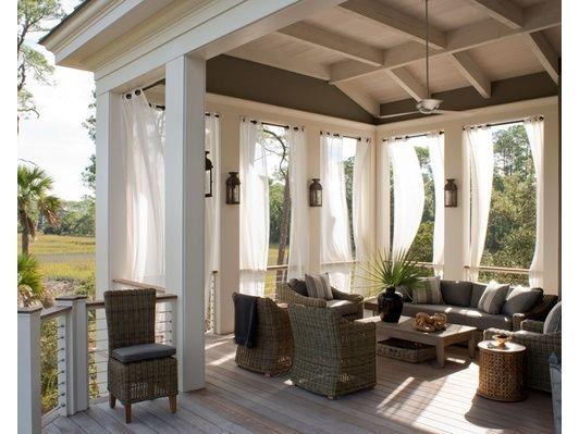 Patio design - Home and Garden Design Ideas Backyard Spaces - cortinas para terrazas