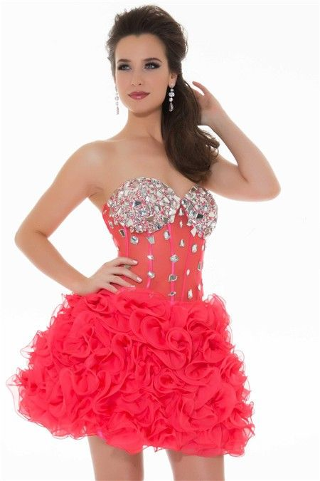 1000  images about Short red prom dress on Pinterest  Knee length ...