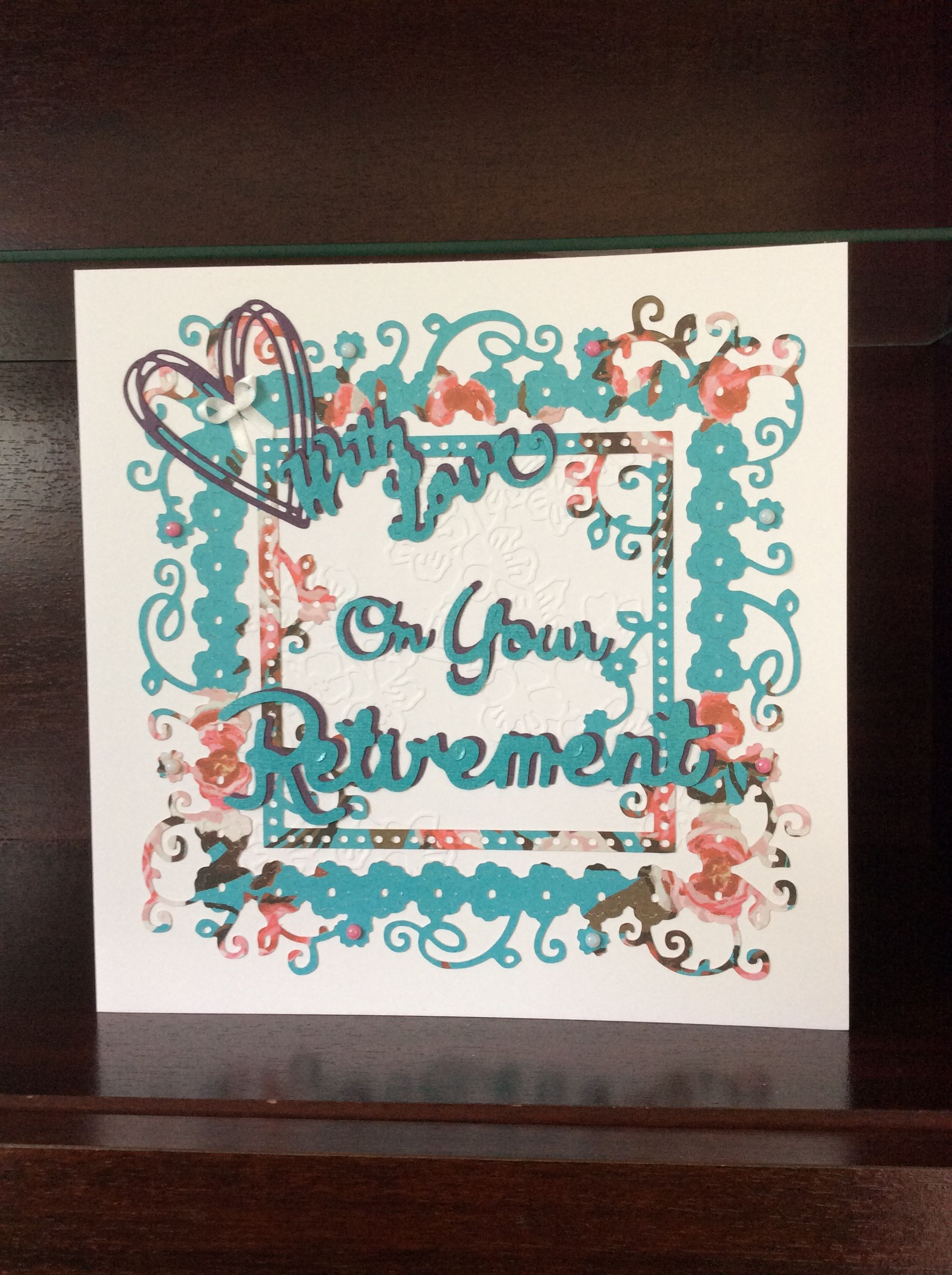 Large With Love On Your Retirement Handmade Card Perfect For Saying
