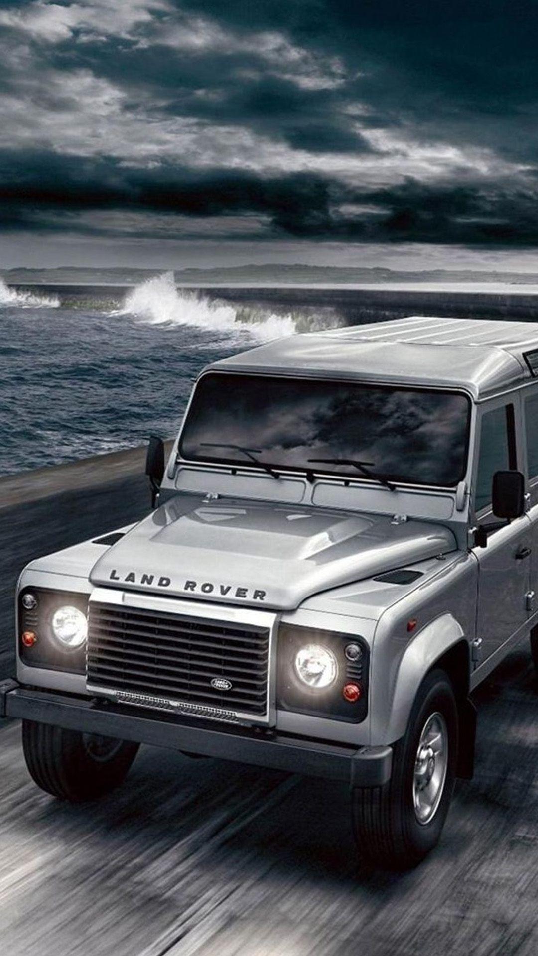 Ocean Shore Land Rover Iphone 6 Plus Wallpaper Land Rover Land Rover Defender Iphone 6 Wallpaper