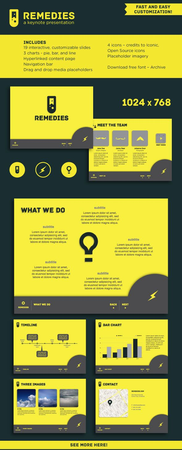 A customizable, interactive keynote template : 1024px x