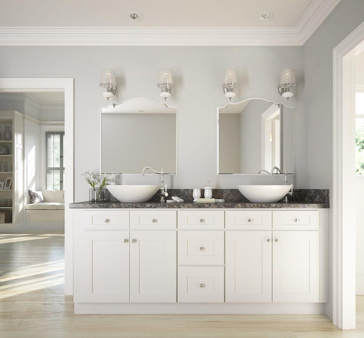 Best Brilliant White Shaker Bathroom Vanity White Vanity 640 x 480