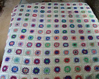 Crochet Baby Blanket, Granny Square Blanket, Ready to ship Baby Blanket
