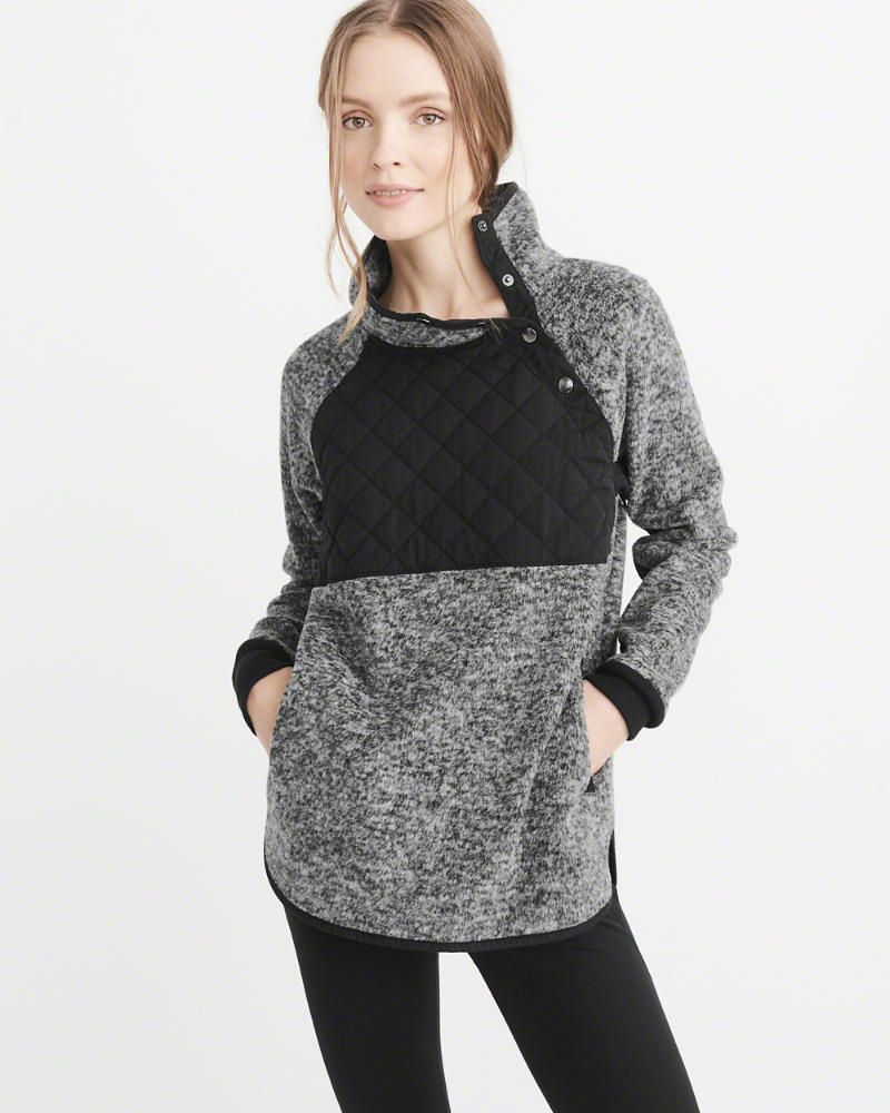 Womens Asymmetrical Snap Pullover | Womens New Arrivals | Abercrombie.com