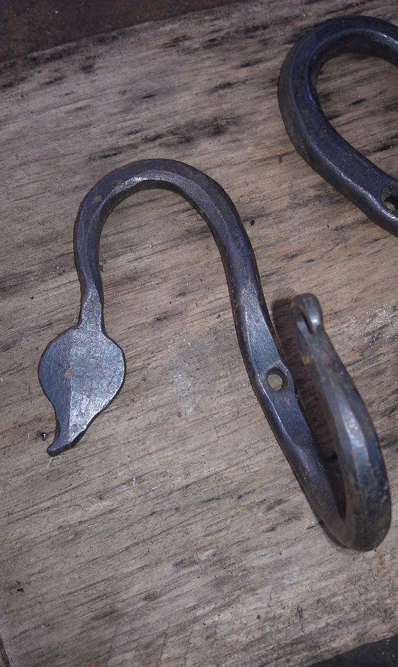 Black Iron Hooks Wrought Iron Pair Hooks With Images Wrought