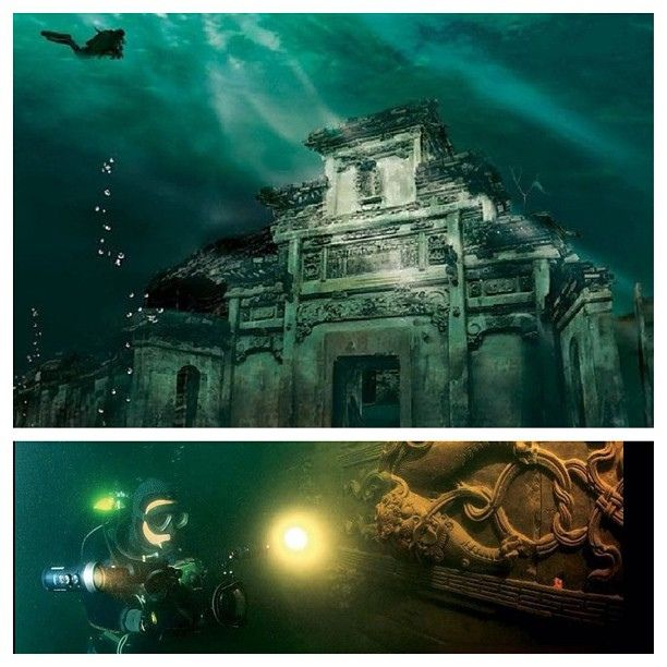 Lion City The Chinantis China Style Atlantis Real Flooded Old Village Enekoporvida China Lioncity Wushinmountain Ancient Cities Underwater City Underwater