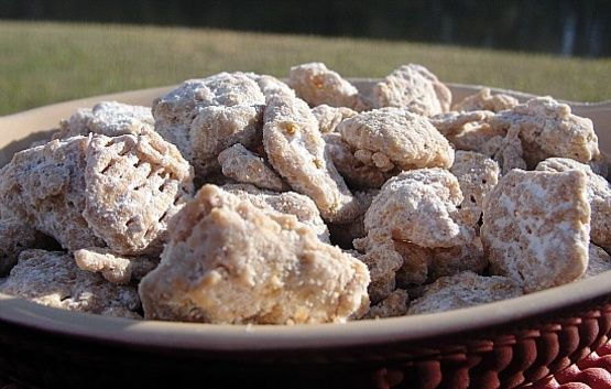 This Is Just My Regular Crispix Or Similar Type Of Cereal Puppy Chow Recipe Made With Butterscotch Chips Instead Of Cho In 2020 Puppy Chow Recipes Recipes Puppy Chow