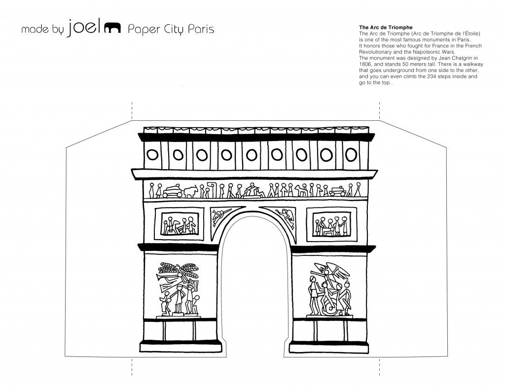 Paper City Paris Arch De Triumphe Template Arte Paris Paris