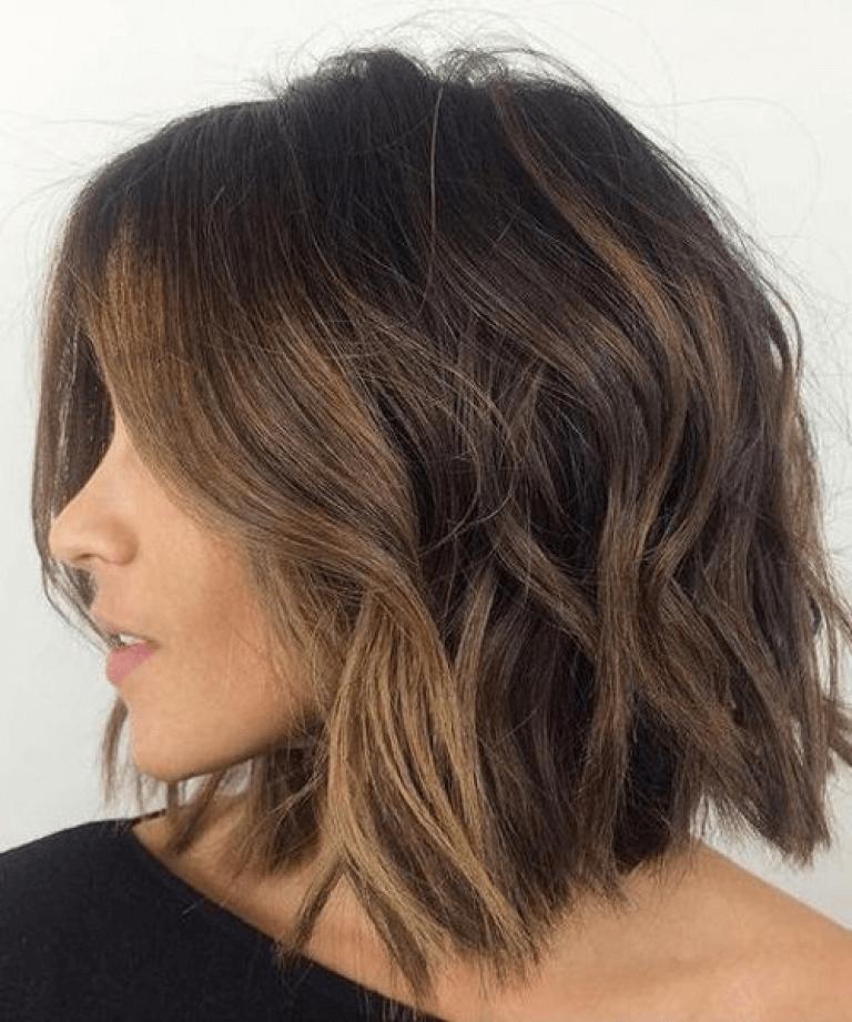 Frisuren schulterlang dunkelbraun