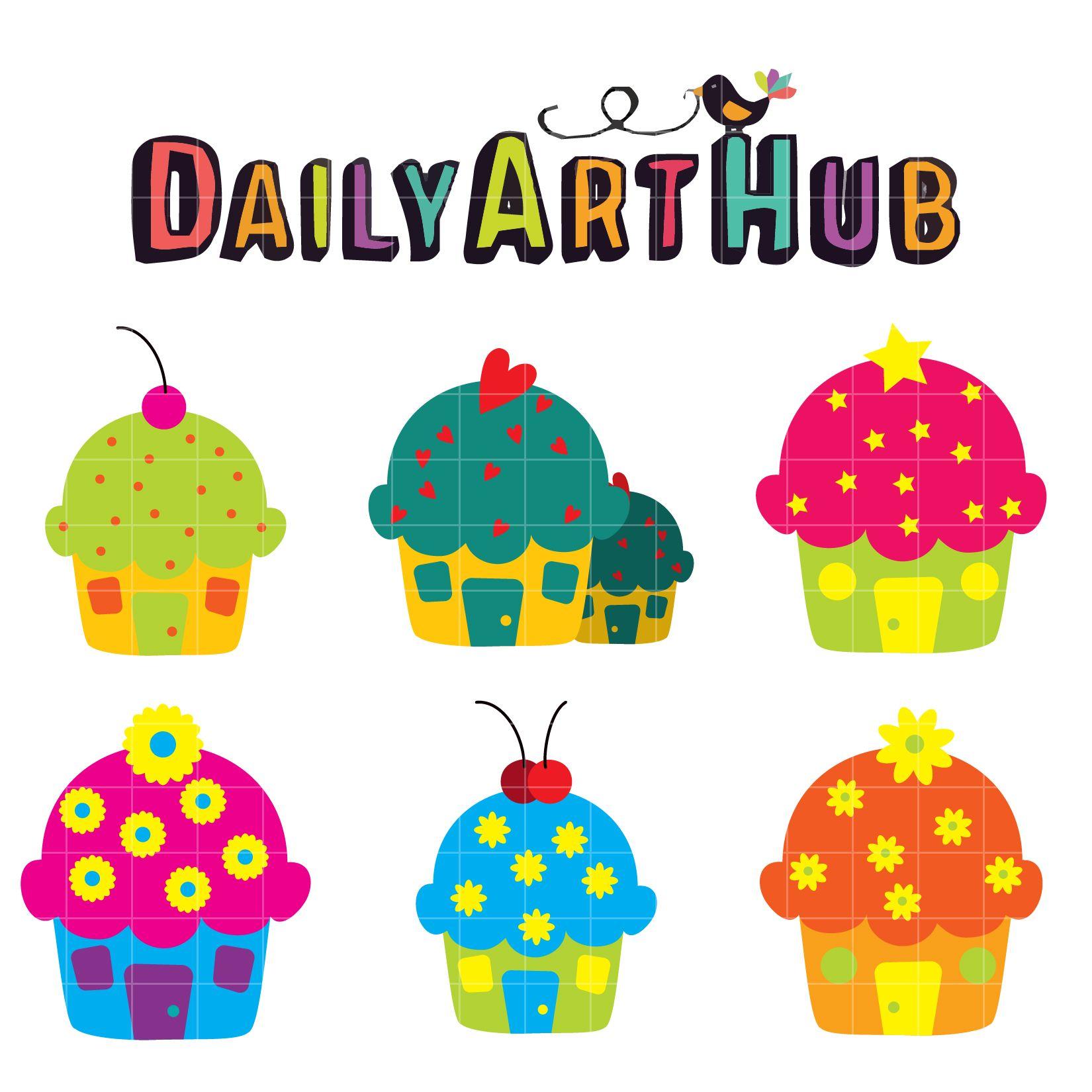 FREE Cupcake Houses Clip Art Set