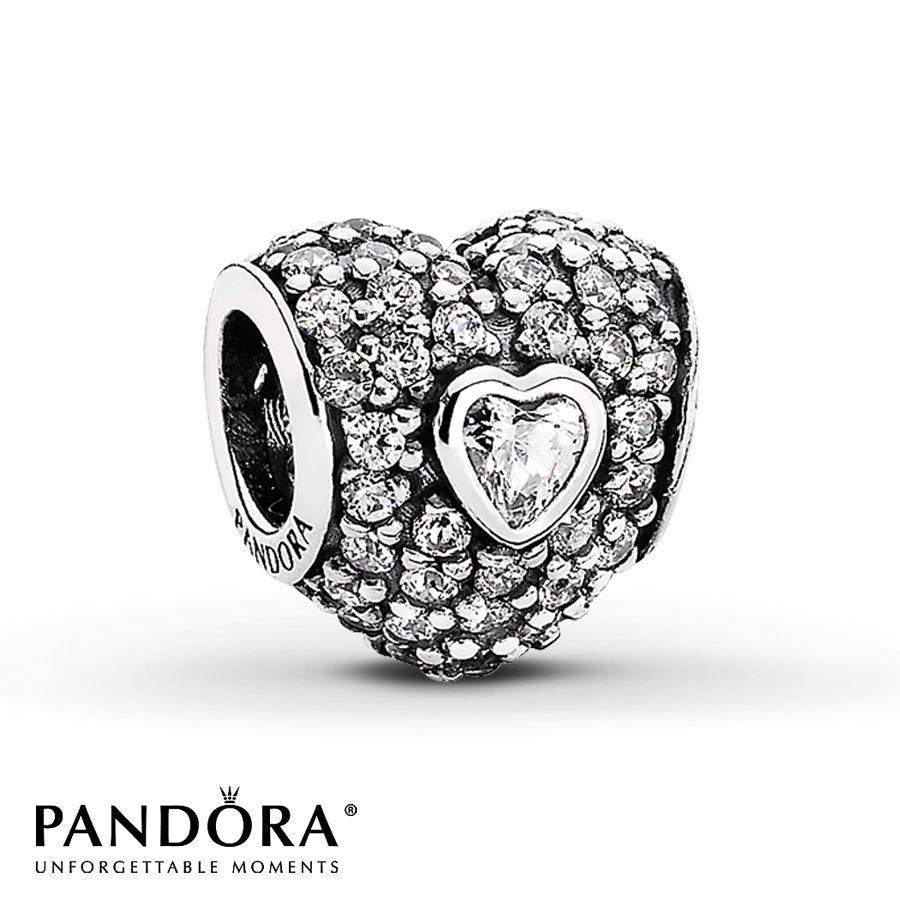 pandora charm silver heart