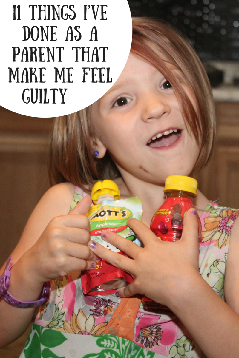 11 Things I've Done As A parent That Make Me Feel Guilty #ad #GoodandHonest #Motts plus enter to #win a $50 gift card and  products.