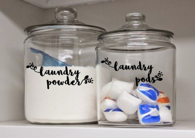 DECAL ONLY -Custom laundry Labels, laundry Caniste