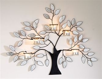 Kleeneze Shop Black Metal Tree Wall Art With Delicate