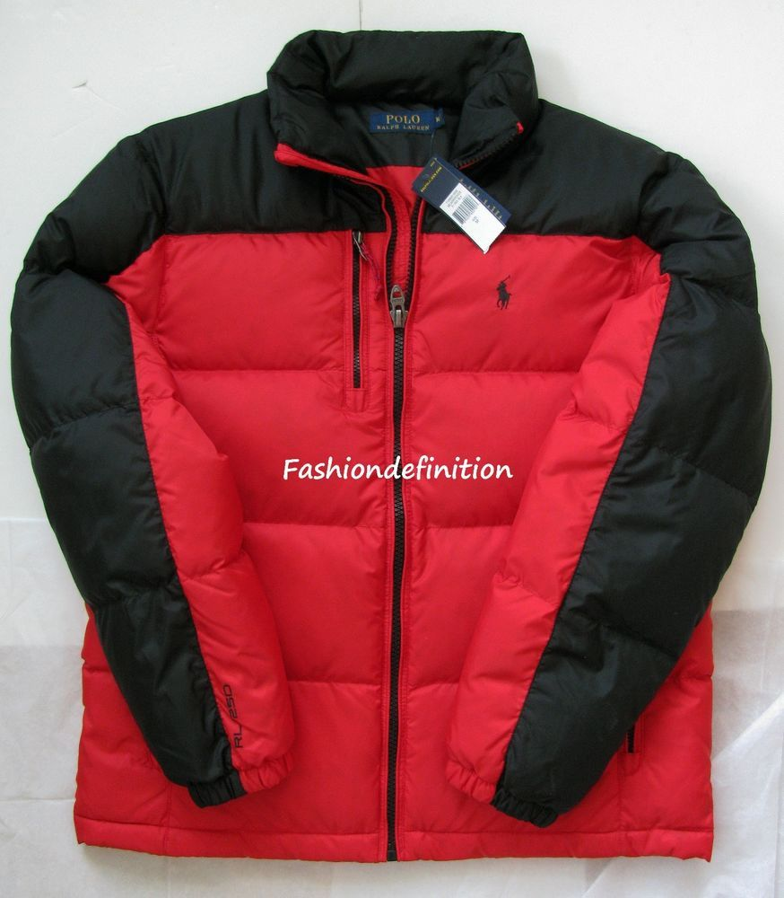 detailed pictures 73c35 e291a Details about New Polo Ralph Lauren Men Red Black Winter ...