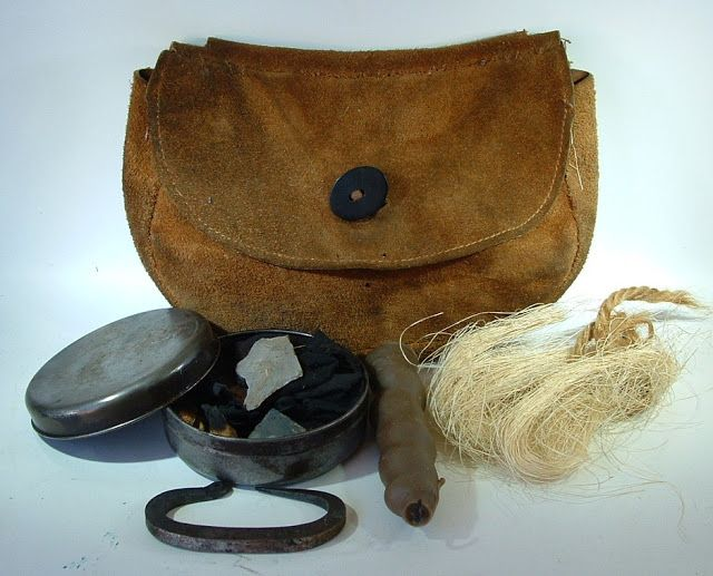 Fire Craft Pouch Ideal for Flint /& Steel kits Traditional Leather Bushcraft