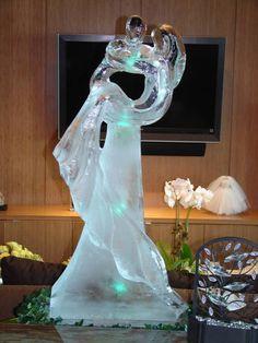 wedding ice sculpture esculturas en hielo pinterest