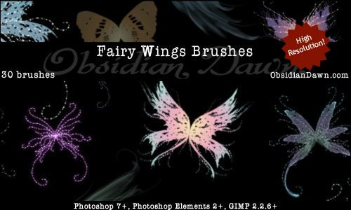 Fairy Wings Brushes By Redheadstock On DeviantART Photography