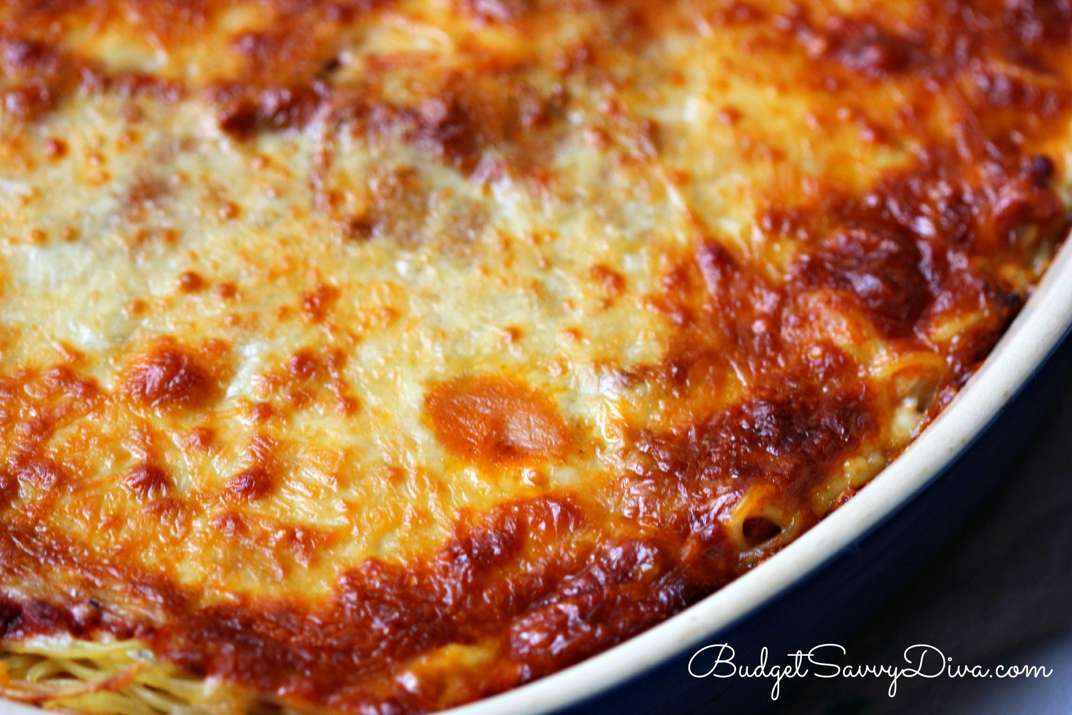 Cheesy Spaghetti Bake Recipe Recipe Easy Baked Spaghetti Recipe Easy Baked Spaghetti Baked Spaghetti