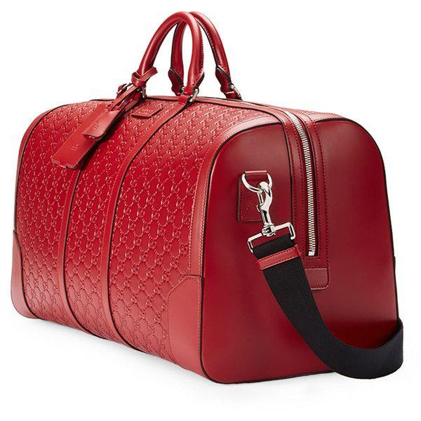 01d112ca3795 Gucci Signature Large Leather Duffel Bag ( 2
