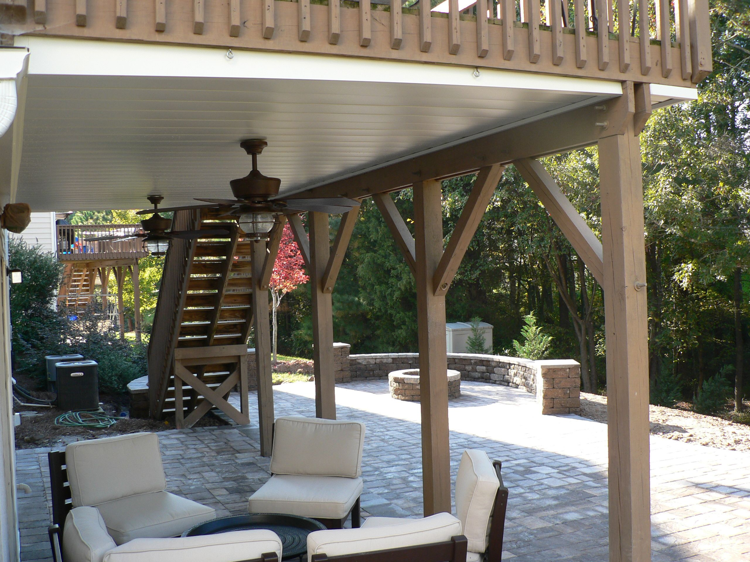 Space is similar to ours to do underdeck patio firepit and to do underdeck patio firepit and furniture baanklon Choice Image