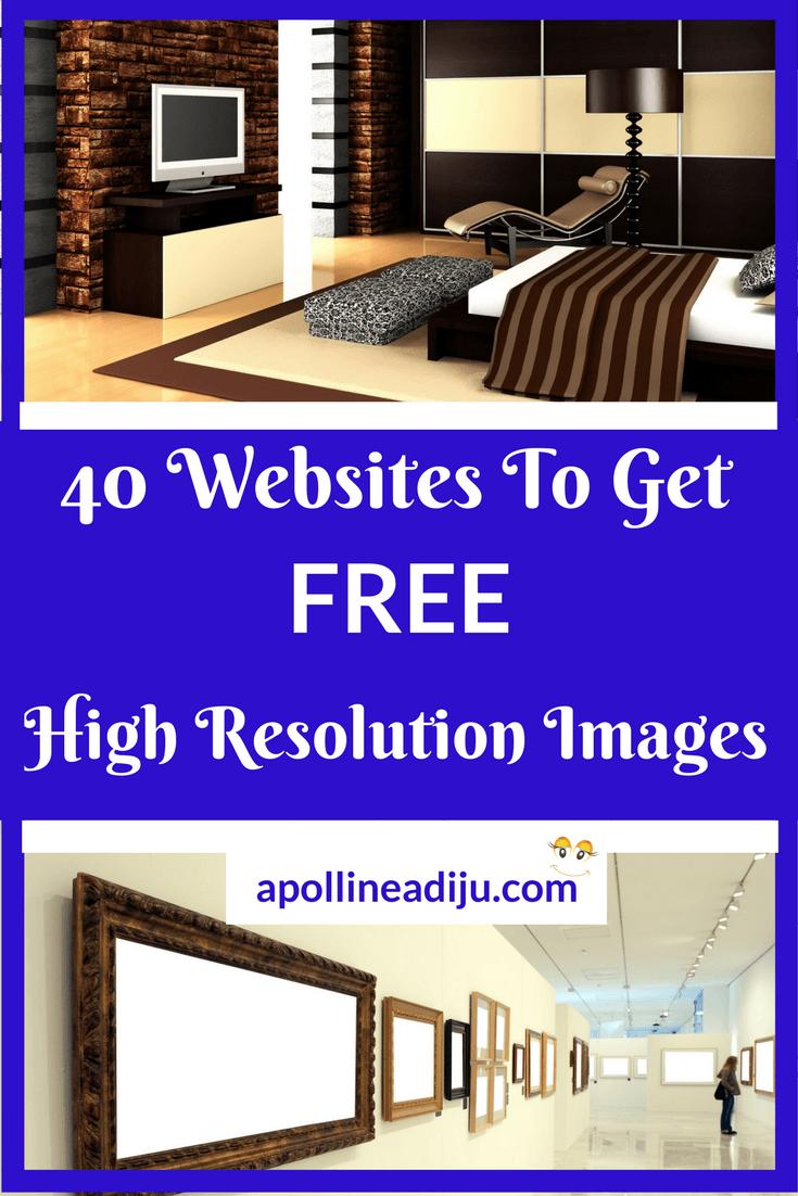 40 Best Websites To Get Free High Resolution Images Free High Resolution Images Cool Websites Online Marketing