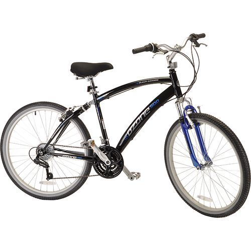 Ozone 500 Men S Black Canyon 26 In 21 Speed Comfort Bicycle Black