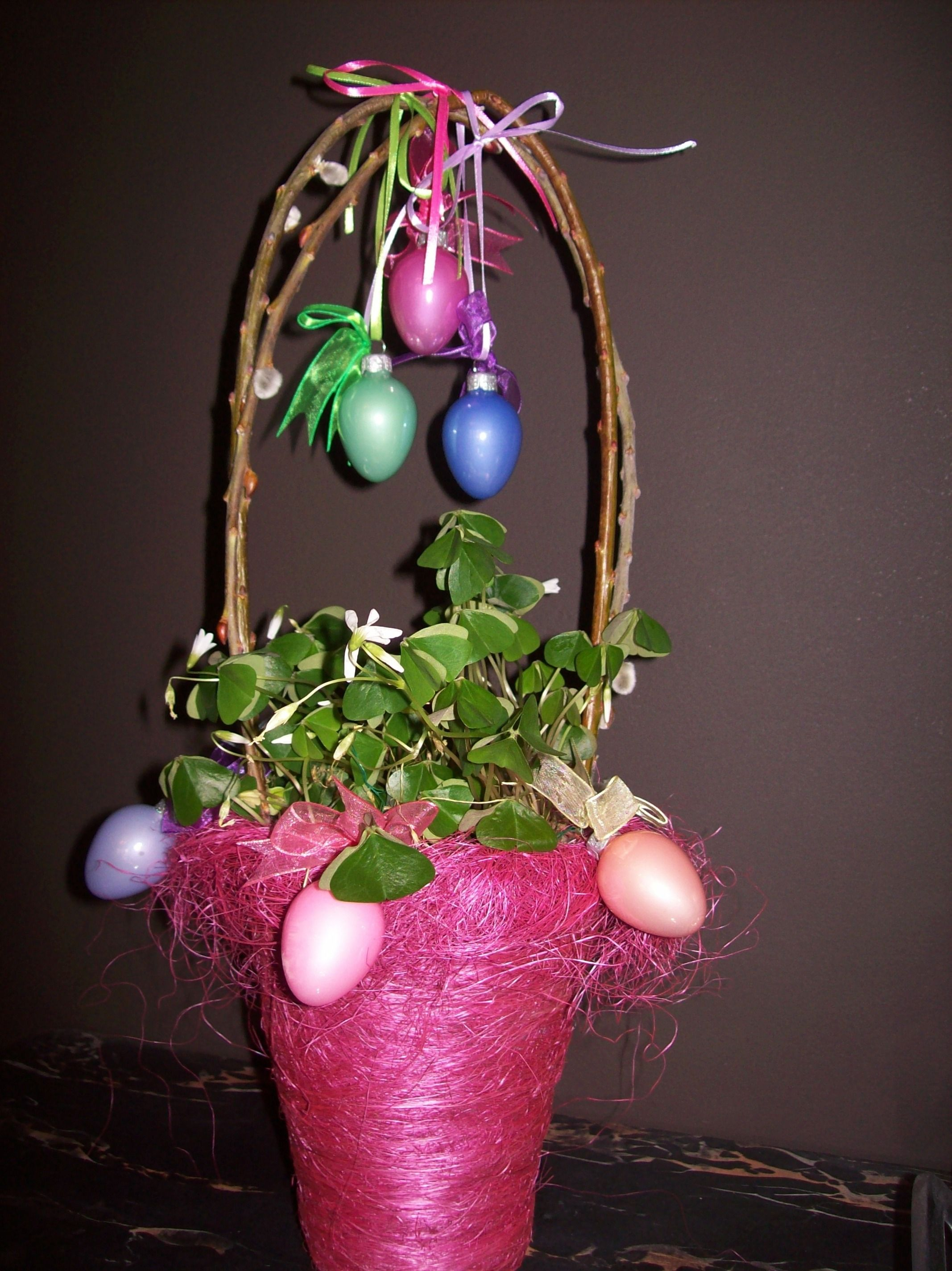 Easter basket no candy glass ornaments springsummer easter basket no candy hostess giftseaster negle Choice Image
