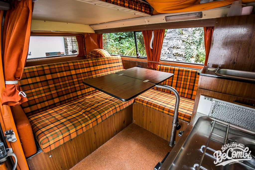 a l int rieur de notre combi westfalia 1975 vw volkswagen and vw bus. Black Bedroom Furniture Sets. Home Design Ideas