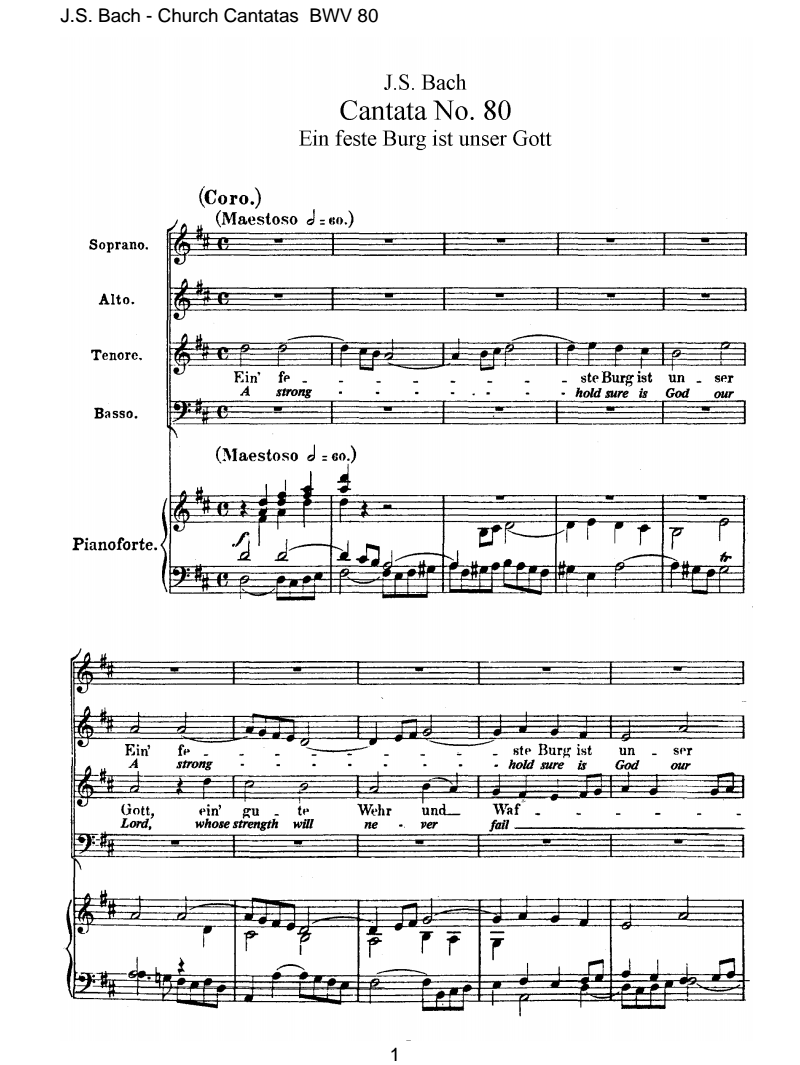 Ein feste Burg ist unser Gott, BWV 80