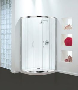 Coram Optima Bi Fold Shower Door 900mm Wide 4mm Plain Glass Puertas