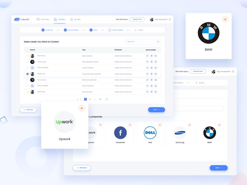 Inboxiq Lead Generation Web App Web App Web App Design App