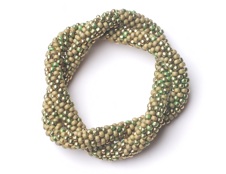 Abataka Hand-Crocheted Unity Bracelet - Sage Green. , via Etsy.