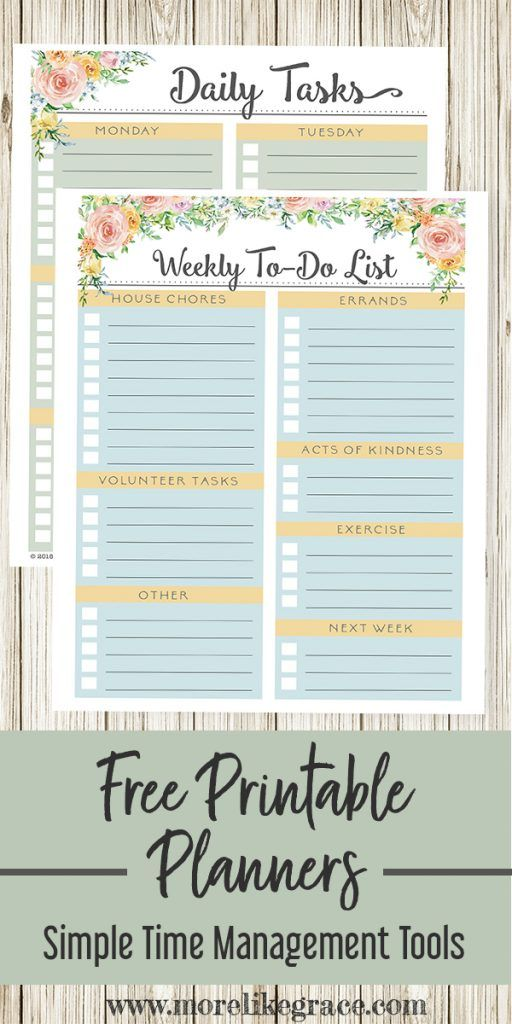 Free Printable Weekly Planners For Mom and Kids is part of Organization Printables Kids - These free printable weekly planners will help you stay organized at home and teach your kids good time management skills too! There's a pretty floral planner for mom and a colorful planner for the kids!   Time Management   Weekly Planner   Free Printable   Kids Planner   Personal Planner   Home Organization   Printable Planners   freeprintables   weeklyplanner   homeorganization