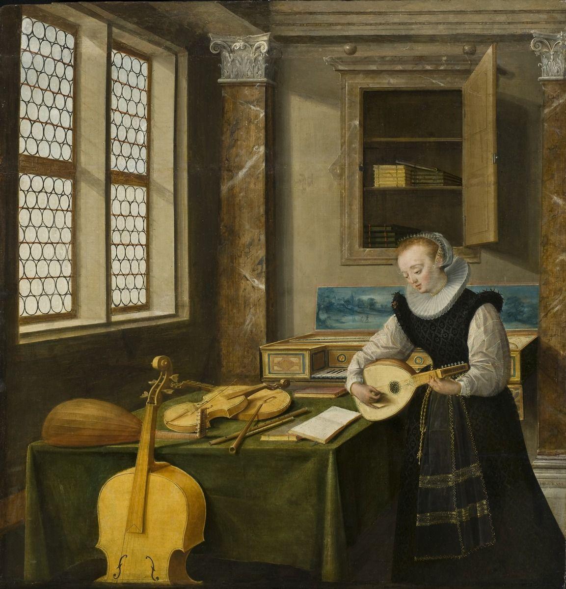 File:Lady Playing the Lute (Hendrick van Steenwyck d.y.) - Nationalmuseum - 18523.tif