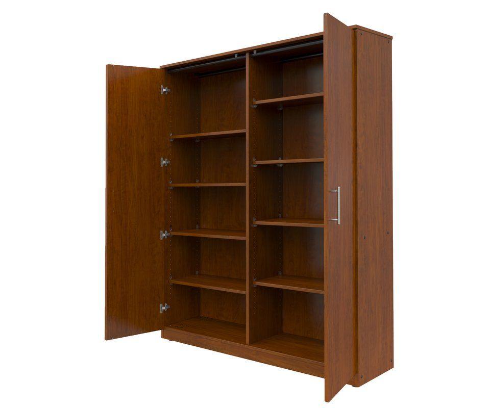 Mobile Casegoods Armoire Door Storage Locking Storage Cabinet Storage