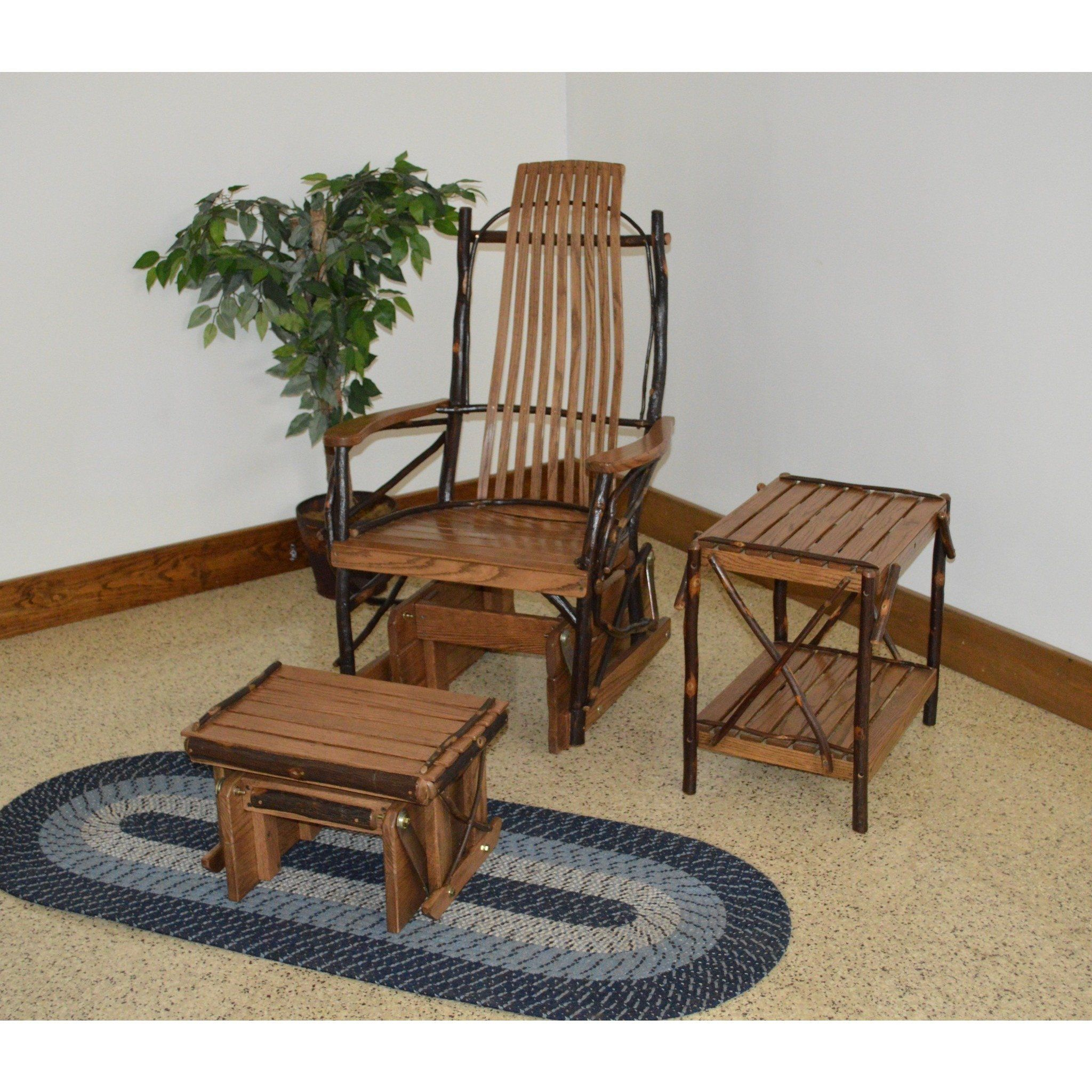 A l furniture co amish bentwood hickory glider rocker