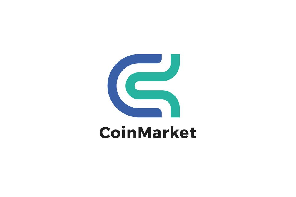 PIXASQUARE Coin Market C Letter Logo Design Template on Gumroad | pp ...