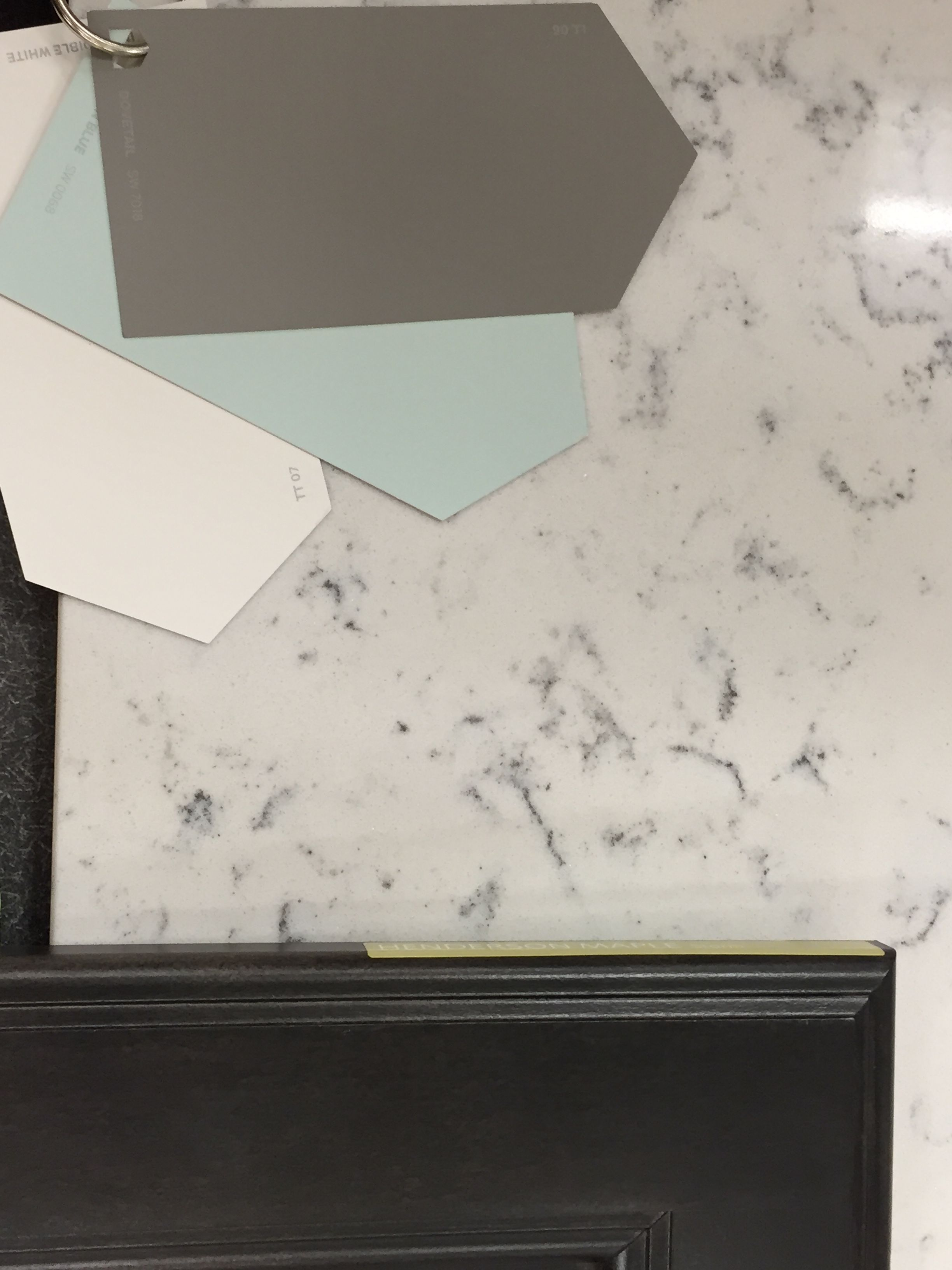 Lyra quartz countertop and dovetail grey from shewwin for Are all quartz countertops the same