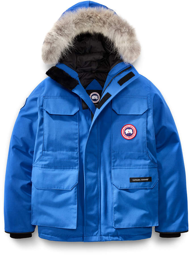 Canada Goose Pbi Expedition Hooded Parka Royal Blue Size Xs Xl Hooded Parka Kids Clothing Canada Parka