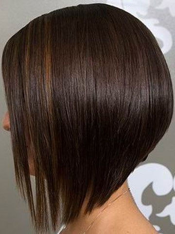 Style Onsite Longer In The Front Shorter In The Back Hairstyle Angled Bob Haircuts Angled Bob Hairstyles Short Straight Hair