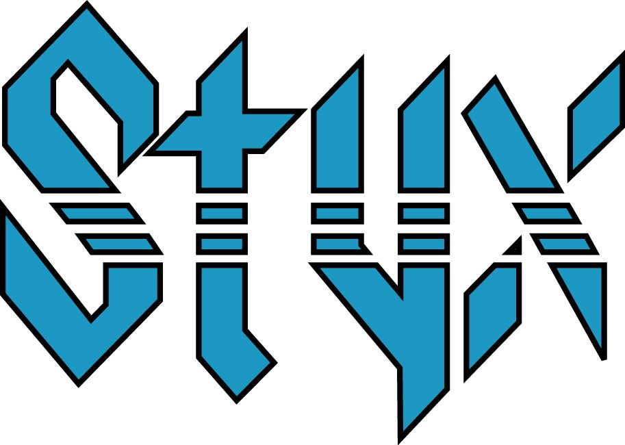 one week until we rock out with styx classic rock bands rock rh pinterest com Rock Band Logos and Names Rock Band Logos and Names