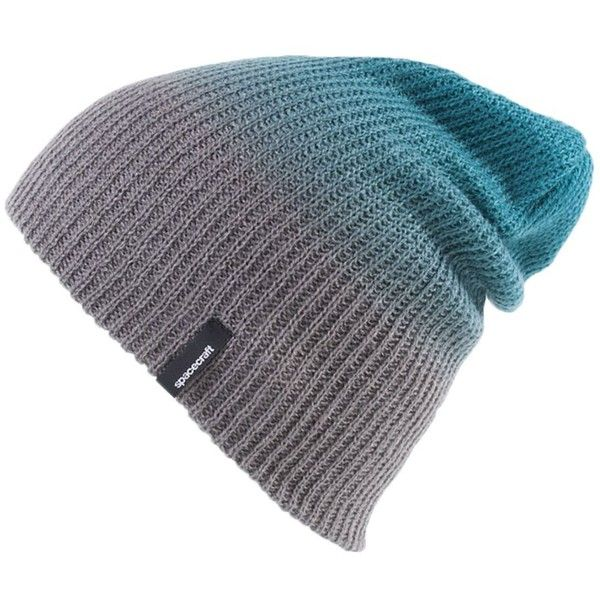 5c0d3744e5a Spacecraft Faded Beanie ($12) ❤ liked on Polyvore featuring accessories,  hats, slouchy beanie, beanie cap, slouch beanie, slouchy hat and slouch hat