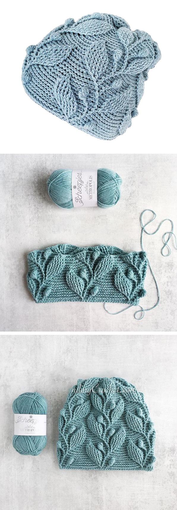 Crochet Leaf Beanie – Handmade Paris #crochetdiy