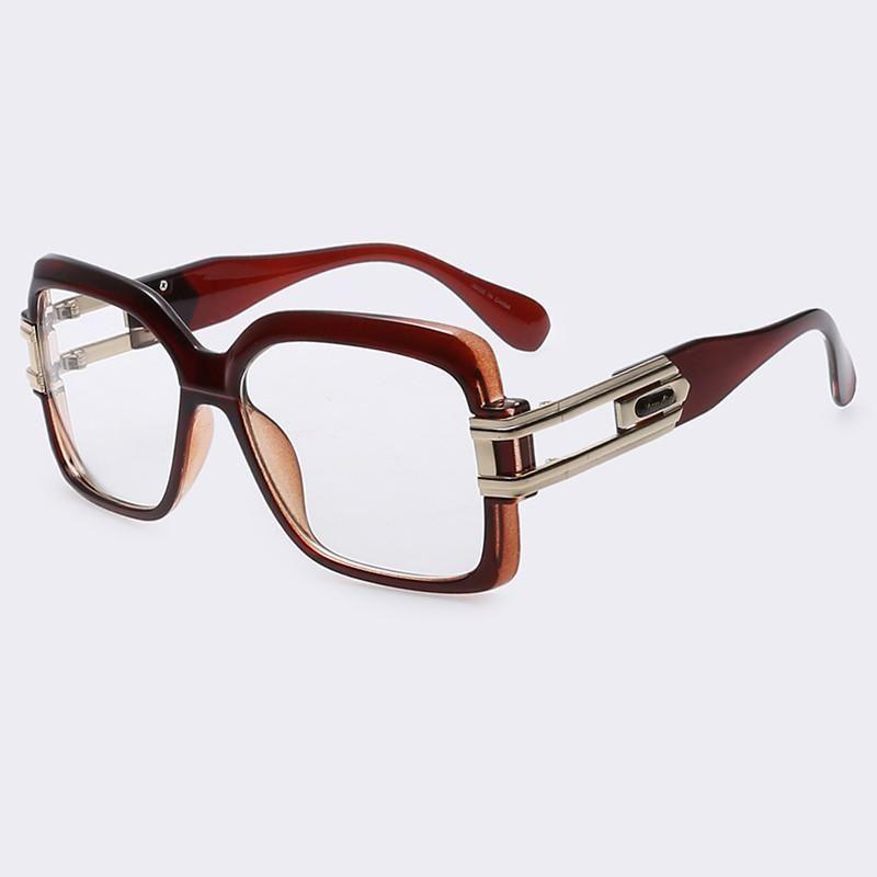 5d02dae761 AOFLY Eye glasses Women Square Frame Optical Glasses Unisex Plain Eyeglass  Frames for Women Men oculos de grau