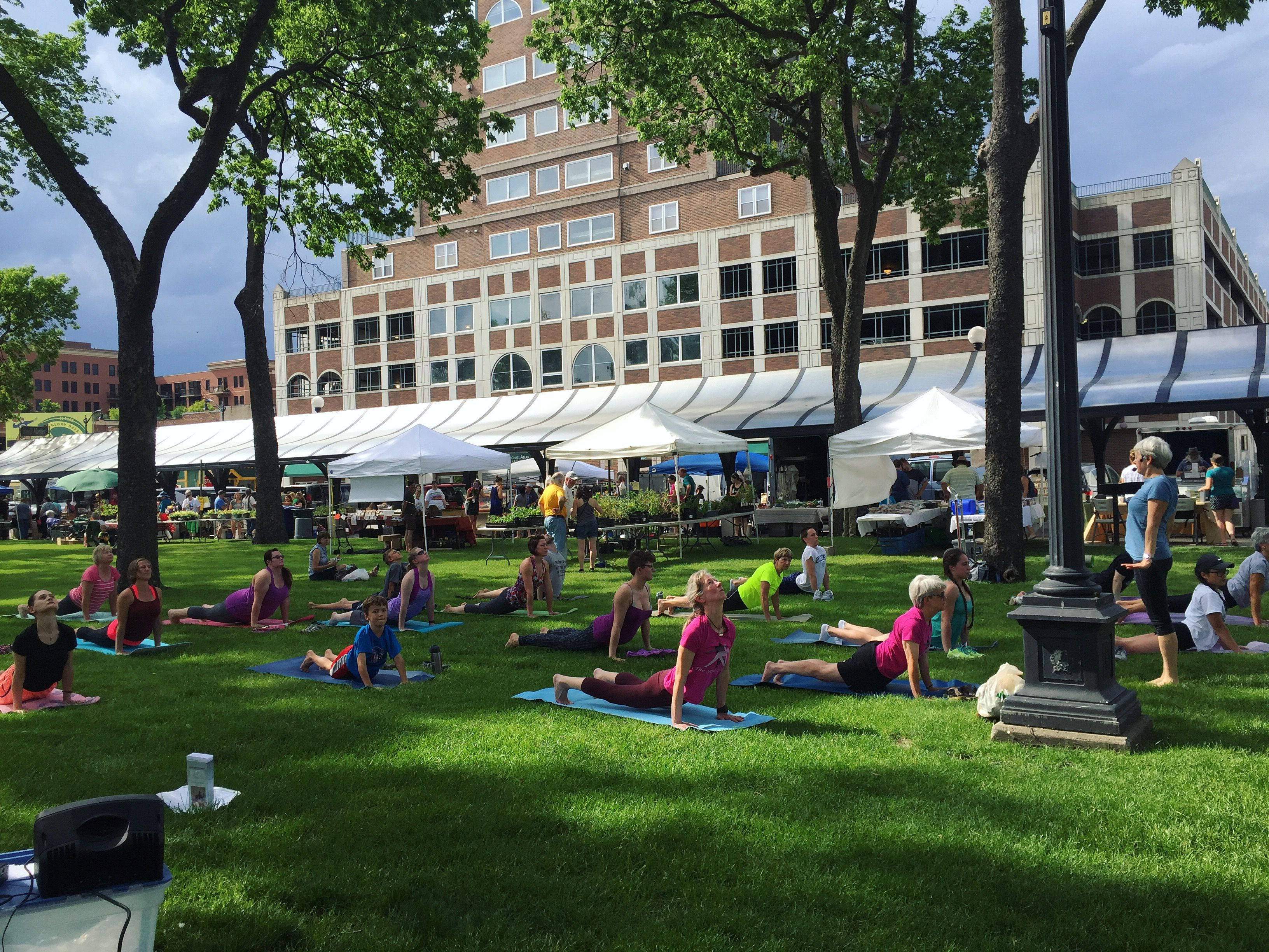 Yoga In The Park Thanks To The Yoga Place Of La Crosse Wi Yoga Place Places To Go Wisconsin Cheese