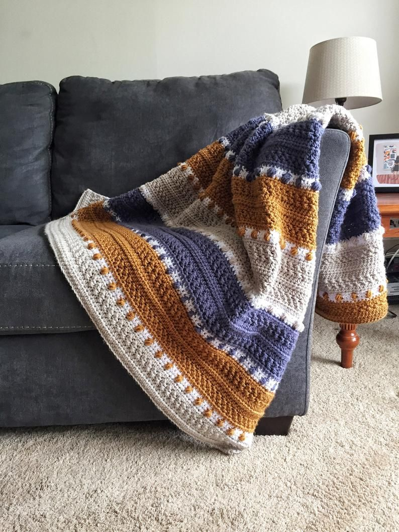 CROCHET PATTERN - For the Love of Texture Afghan.